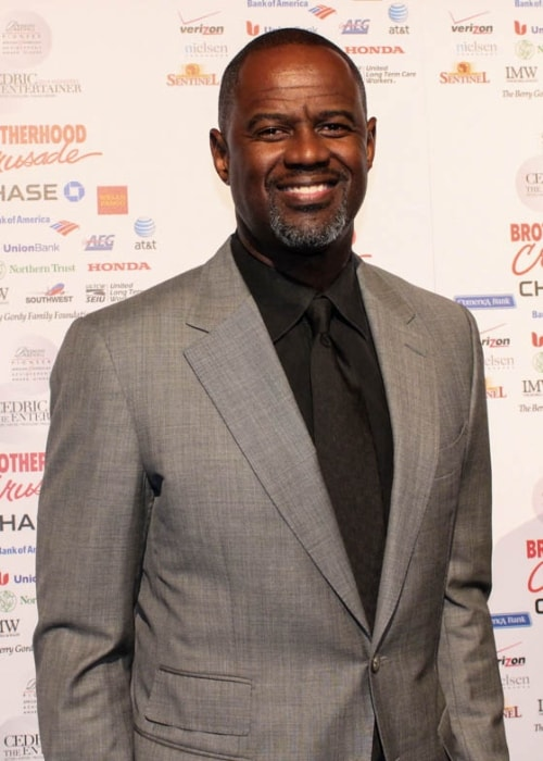 Brian McKnight as seen while posing for the camera at the 2014 Pioneer of African American Achievement Awards Gala