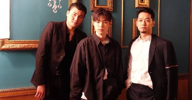 Car, the Garden as seen while posing for a picture with Boycold (Center) and rapper The Quiett (Right) in April 2019