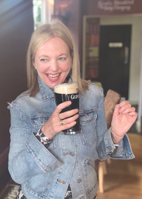 Clare Grogan as seen while enjoying a drink at a pub in March 2019