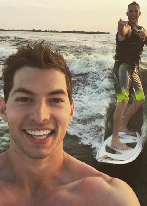 Coby Cotton as seen in a selfie with Cody Jones taken in June 2015