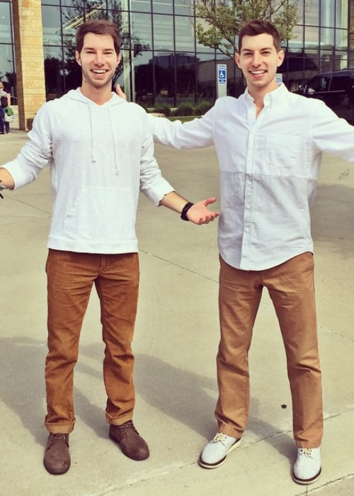 Cory Cotton (Left) as seen in a picture taken with his twin brother Coby Cotton (Right) in October 2014