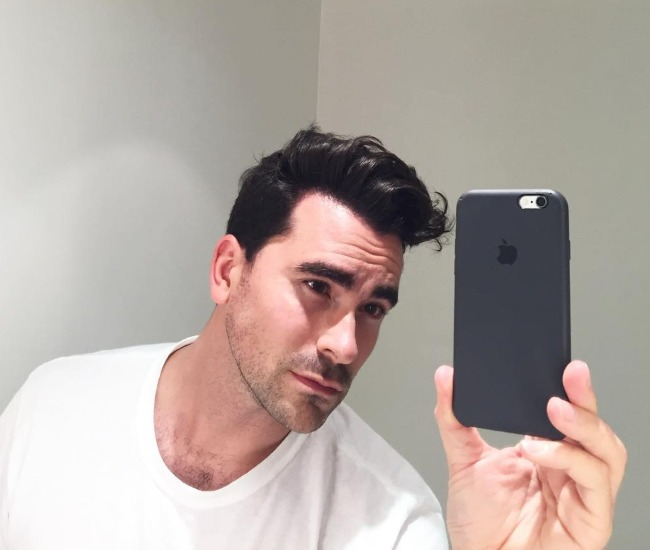 Dan Levy in a selfie as seen in August 2016