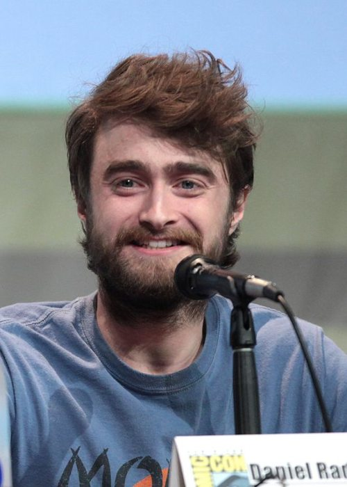 Daniel Radcliffe speaking at the 2015 San Diego Comic Con International