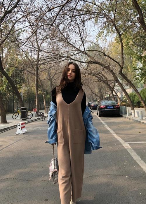 Dasha Taran as seen in a picture taken in Beijing in November 2018
