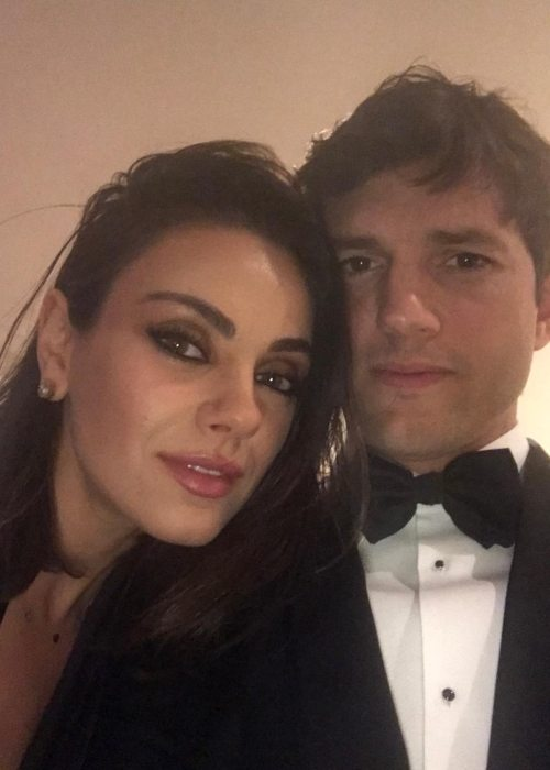Dimitri Portwood Kutcher's parents in an Instagram selfie as seen in March 2018
