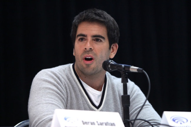 Eli Roth speaking at the 2013 WonderCon
