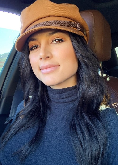 Gabriella Abutbol as seen while taking a New Year's car selfie in January 2019