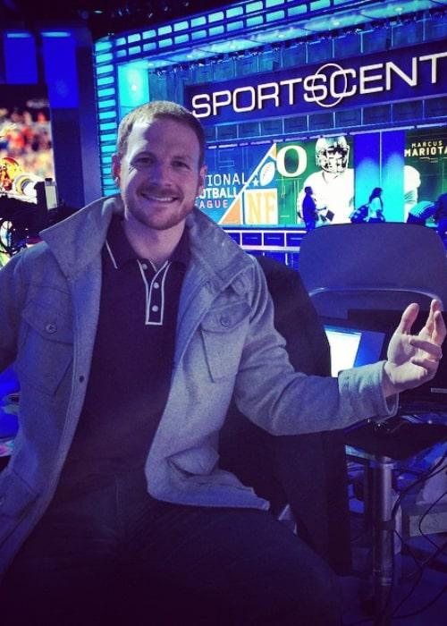 Garrett Hilbert as seen in a picture taken on the set of ESPN's SportsCenter in January 2015