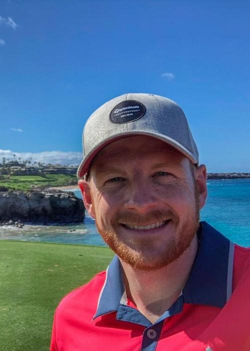 Garrett Hilbert as seen in a selfie taken at The Ritz-Carlton, Kapalua in January 2018