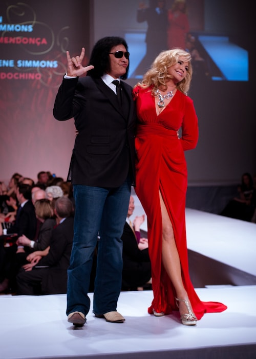 Gene Simmons wearing Indochino during Heart and Stroke Foundation - The Heart Truth celebrity fashion show in February 2012 1