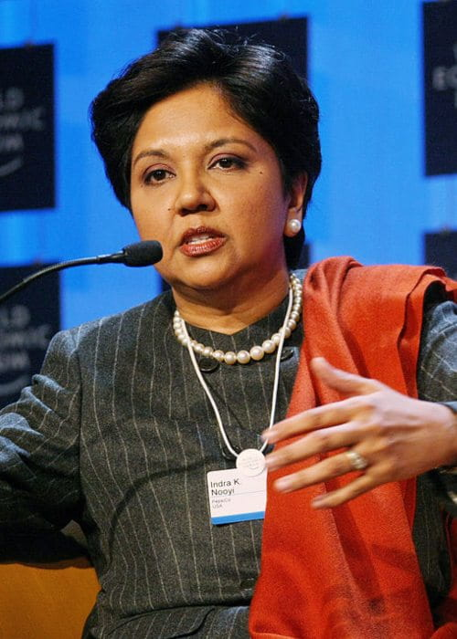 Indra Nooyi at the Opening Press Conference of the Annual Meeting 2008 of the World Economic Forum