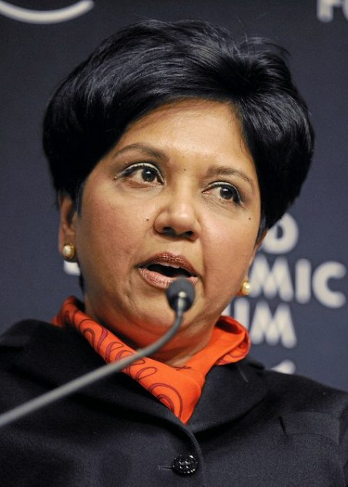 Indra Nooyi speaking at the World Economic Forum 2010 Annual Meeting
