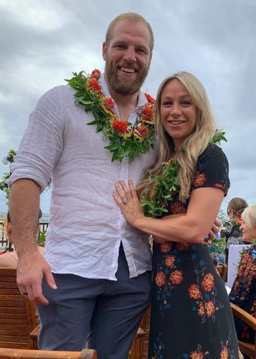 James Haskell and Chloe Madeley as seen in June 2019