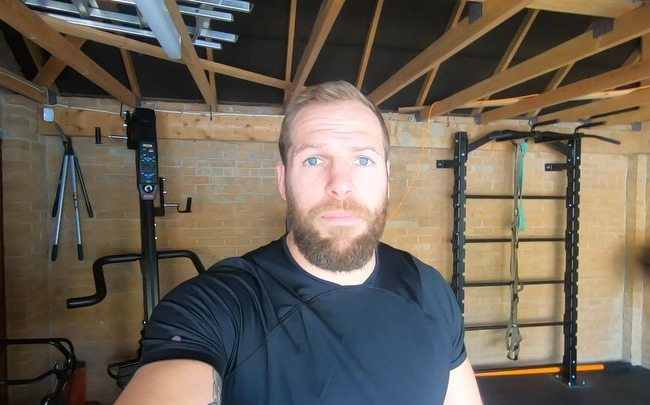 James Haskell in a selfie as seen in April 2019