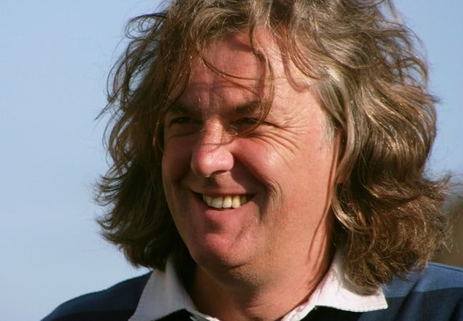 James May during filming of James May's Toy Stories at the Liver Building in 2009