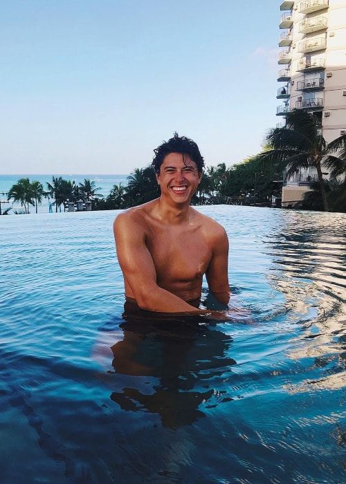 Jordan Connor as seen in a picture taken in Waikiki, Honolulu, Hawaii in January 2019