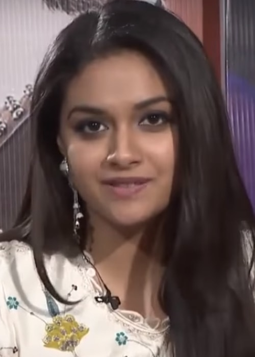 Keerthy Suresh as seen in a picture taken for the promotion of her film Sarkaar in November 2018