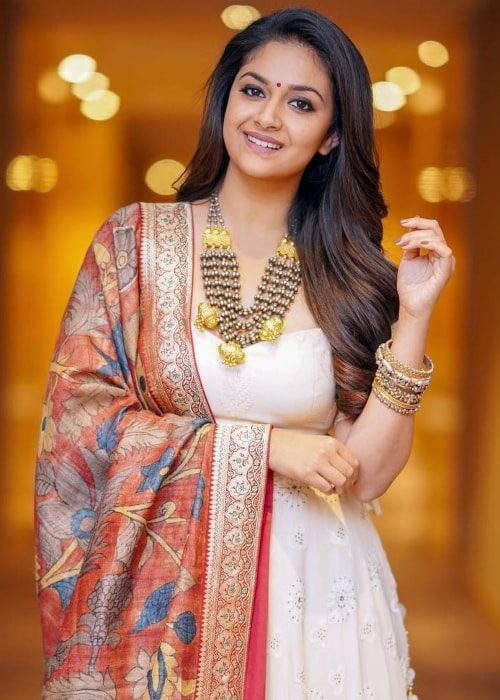 Keerthy Suresh as seen in a picture taken in January 2019