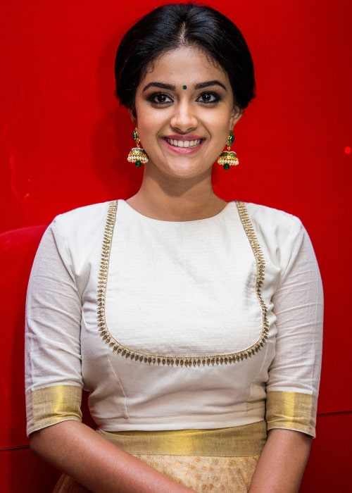 Keerthy Suresh as seen in a picture taken the at Thodari Audio Launch in June 2016