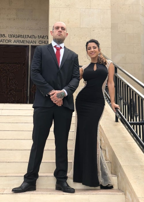 Lena The Plug as seen while posing for a picture with Adam John Grandmaison (a.k.a. Adam22) in April 2018