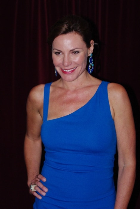 Luann de Lesseps as seen while posing in New York, United States during the launch of Michael Musto's new book, 'Fork on the Left, Knife in the Back', in September 2011