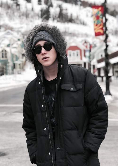 Luke Mullen as seen while posing for the camera in Park City, Summit County, Utah in December 2018