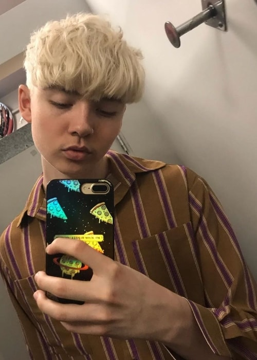 Marteen as seen while taking a mirror selfie in May 2019