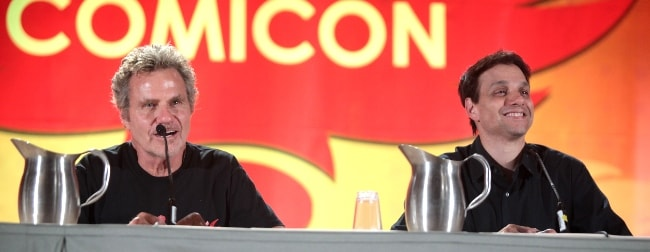 Martin Kove (Left) as seen in a picture with Ralph Macchio while speaking at the 2016 Phoenix Comic-Con at the Phoenix Convention Center in Phoenix, Arizona