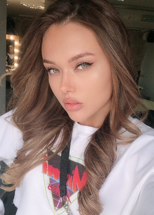 Natalie Danish as seen while taking a gorgeous selfie in May 2019
