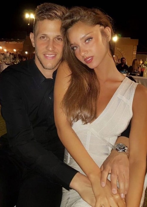 Neta Alchimister as seen while posing for a picture with Rami Gershon in June 2017