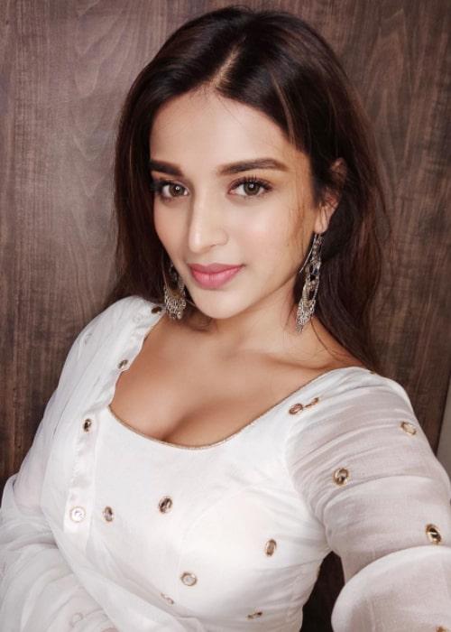 Nidhhi Agerwal as seen in a selfie taken in March 2019