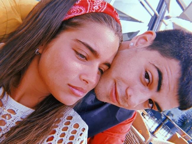Noa Kirel as seen in an adorable selfie with Jonathan Mergui in Cyprus in June 2019