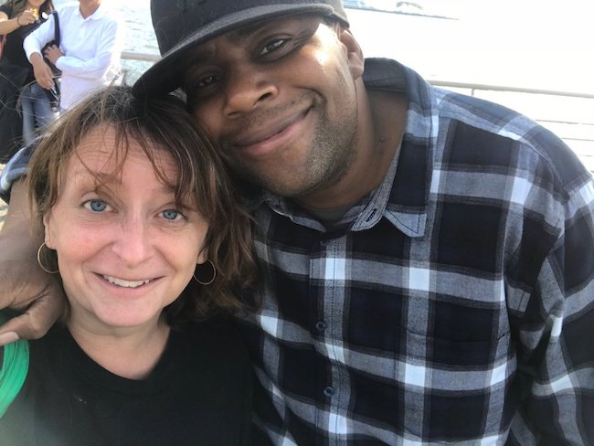 Rachel Dratch in a selfie with an SNL castmate in 2018