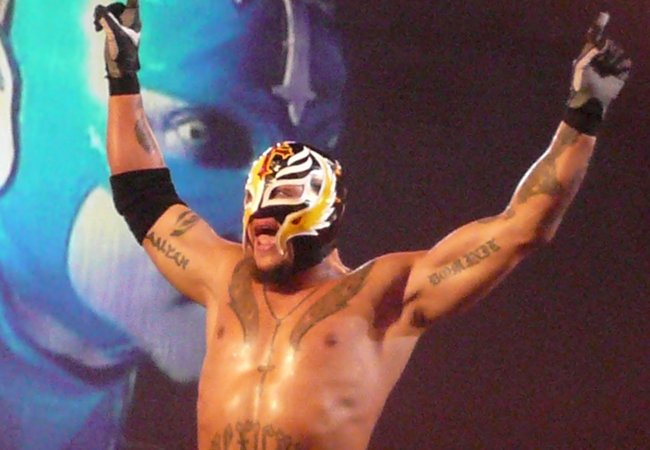 Rey Mysterio at the Manchester Evening News arena in November 2008