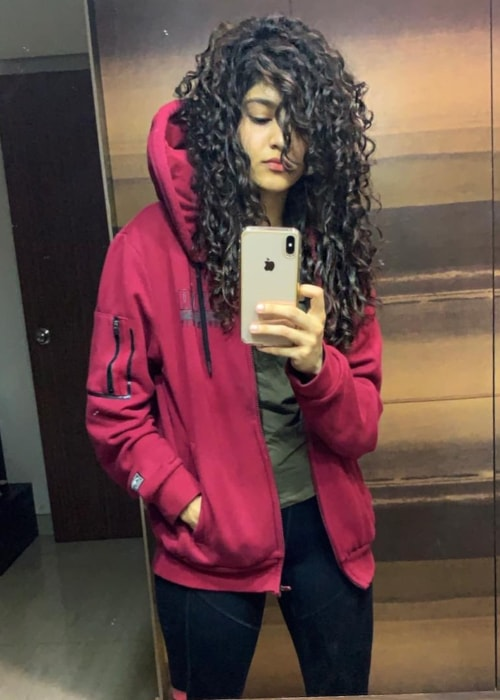 Ritika Singh as seen in a selfie taken in March 2019