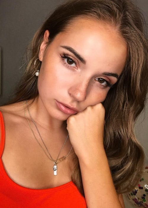 Sasha Spilberg in an Instagram selfie as seen in August 2018