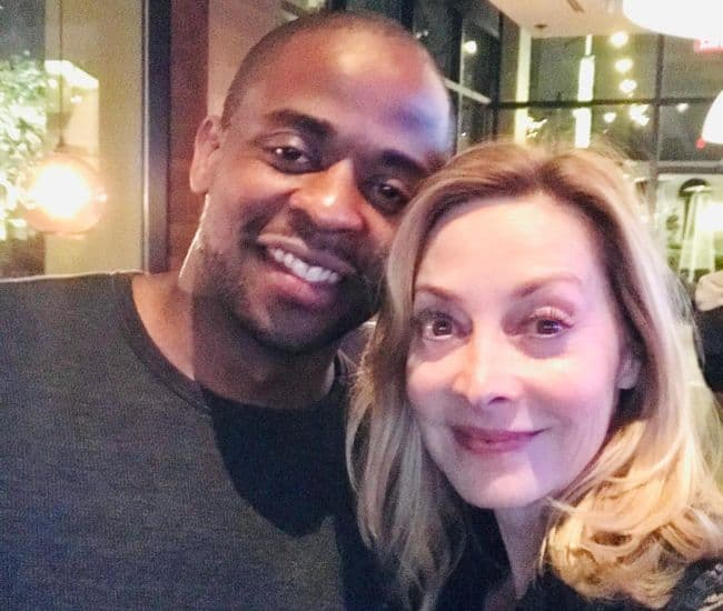 Sharon Lawrence and Dule Hill as seen in April 2019