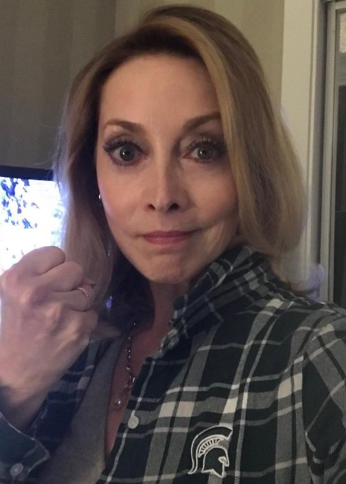 Sharon Lawrence in an Instagram selfie as seen in April 2019
