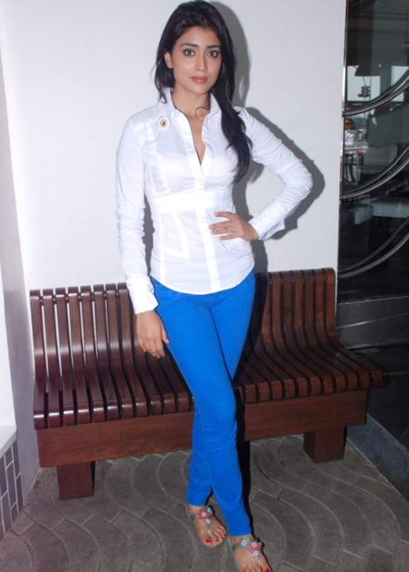 Shriya Saran as seen in a picture taken at the Save Mumbai Foundation in July 2012