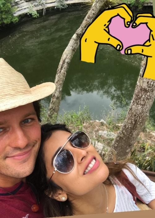 Shriya Saran as seen in a selfie taken with her beau Andrei Koscheev