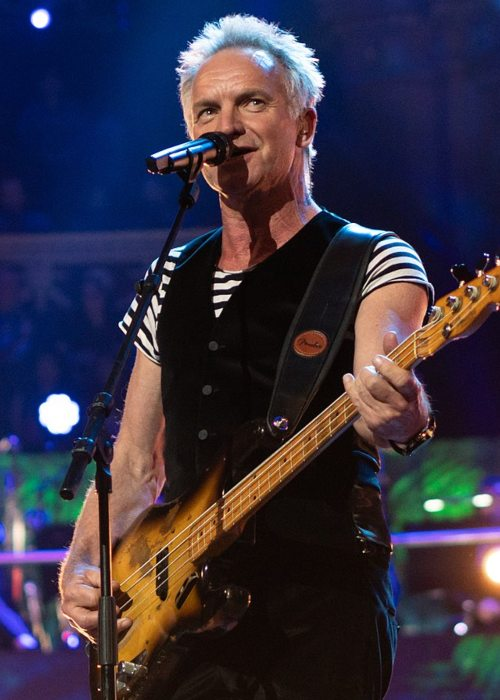 Sting during a performance in April 2018