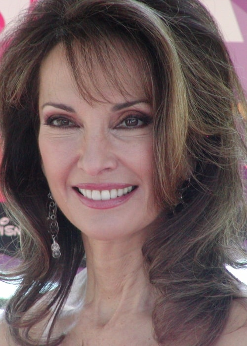 Susan Lucci as seen while smiling for a picture at the 2008 SuperSoap Weekend in November 2008