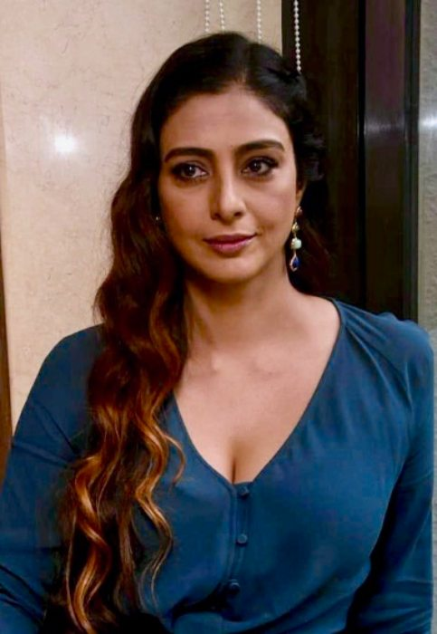 Tabu promoting Andhadhun in September 2018