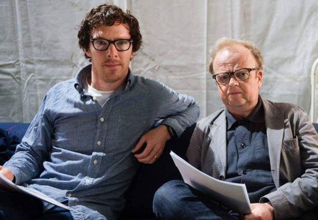 Toby Jones (Right) and Benedict Cumberbatch as seen in 2018