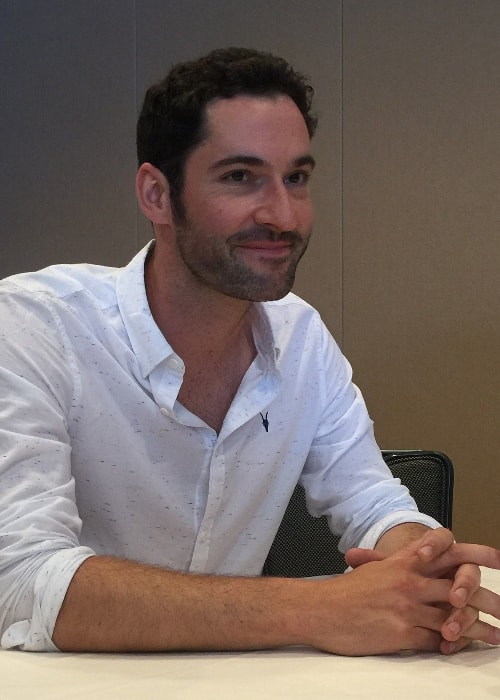 Tom Ellis as seen while at the 2015 San Diego Comic-Con in San Diego, California, United States