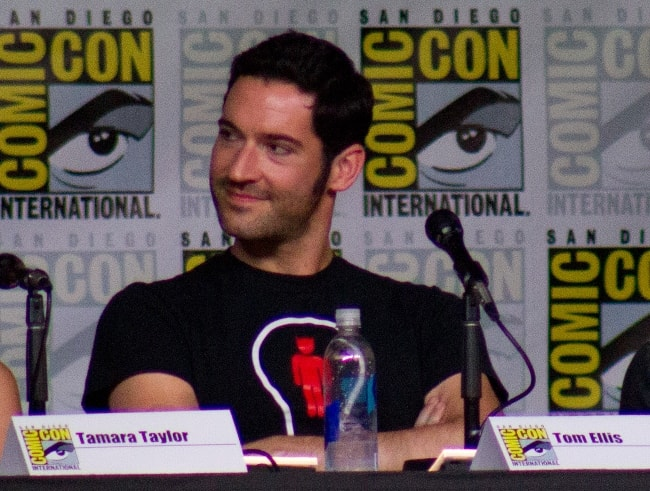 Tom Ellis as seen while attending the 2016 San Diego Comic-Con in San Diego, California, United States