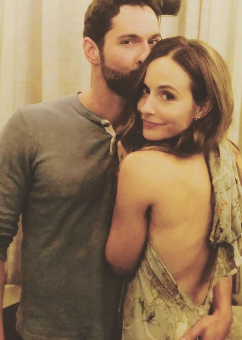 Tom Ellis as seen while posing for a picture with wife Meaghan Oppenheimer in March 2019