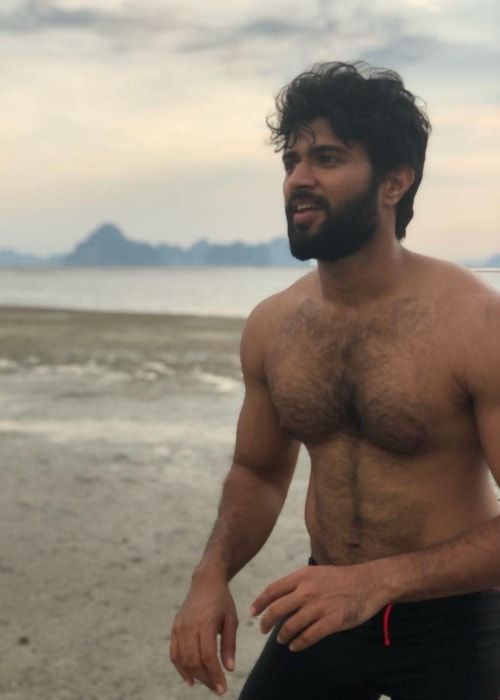 Vijay Deverakonda as seen in a picture taken while playing frisbee at Krabi in Thailand in April 2018