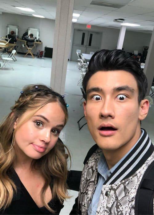 Alex Landi and Debby Ryan in a selfie as seen in May 2019
