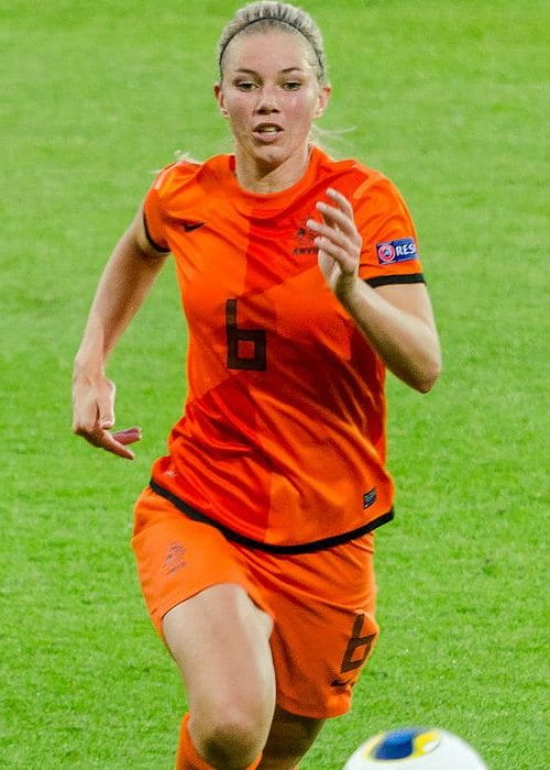 Anouk Hoogendijk during the UEFA Women's Euro in 2013